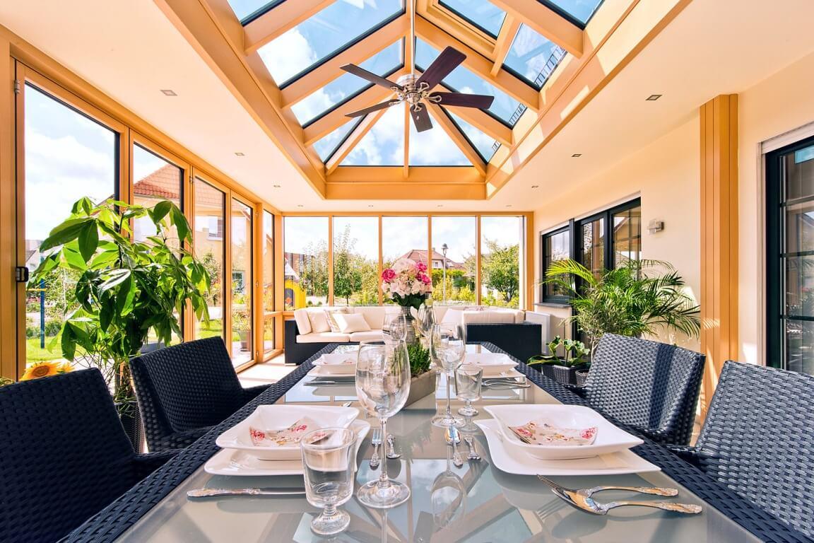 holz aluminium wintergarten i galerie conservatories. Black Bedroom Furniture Sets. Home Design Ideas